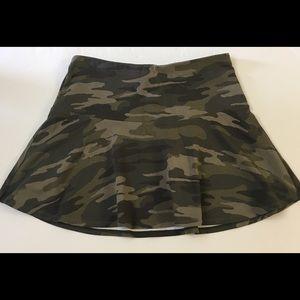 Express Women's Camo Skater Mini Skirt Small
